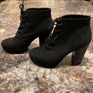 Mossimo Supply Co. Shoes - Black ankle booties.